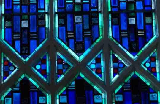a vitraux bleus