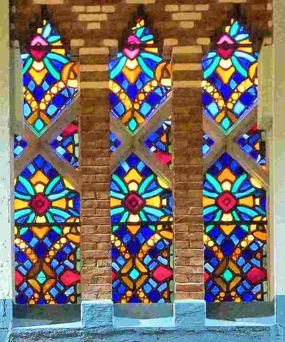 vitraux carrleage détail