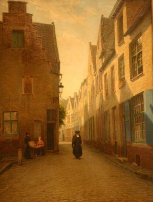 Bruges-Rue-avec-homme-d-eglise1_remy cogghe