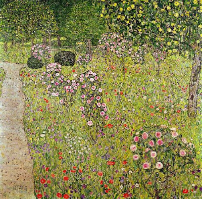 Gustav-Klimt-Fruit-Garden-With-Roses